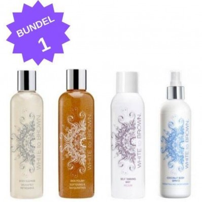 WHITETOBROWN Bundel - Cleanser + Scrub + Spray Mist + Body Lotion Spritz
