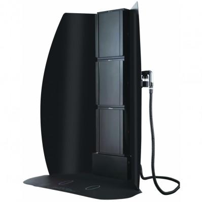 Tanning Essentials 3-Van Turbo Twister afzuigcabine met geïntegreerde spray machine +  GRATIS LITER FLES !!