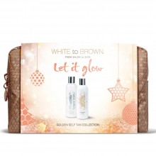 LET IT GLOW - Whitetobrown Golden Self Tan Kerst Giftset