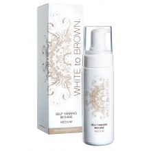 WHITETOBROWN Zelfbruiner Self Tan Mousse - Medium (150 ml) + Handschoen Actie